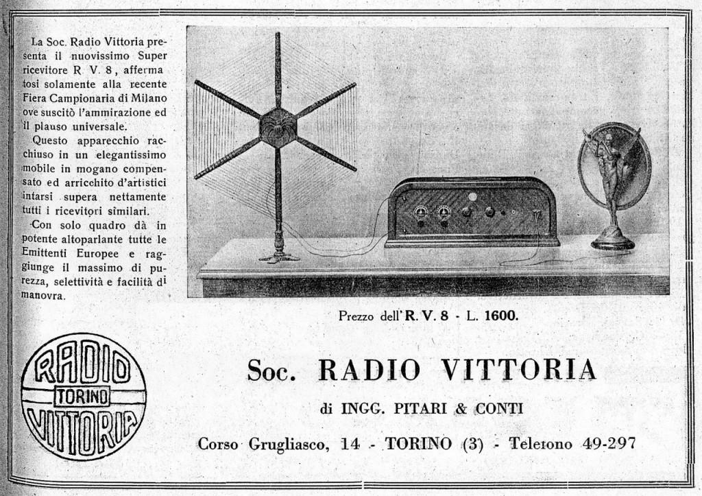 46 RADIO VITTORIA TORINO ANTENNA RAGNO