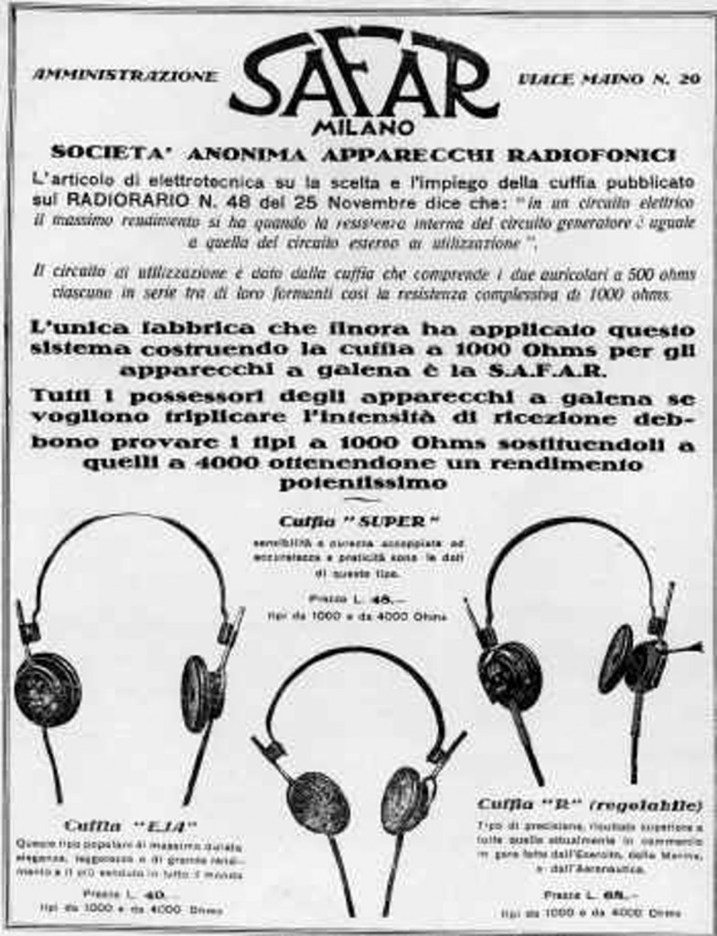 66 cuffie safar 1925