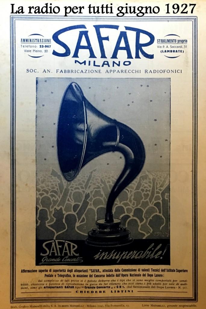 74 pa radio per tutti giugno 1927