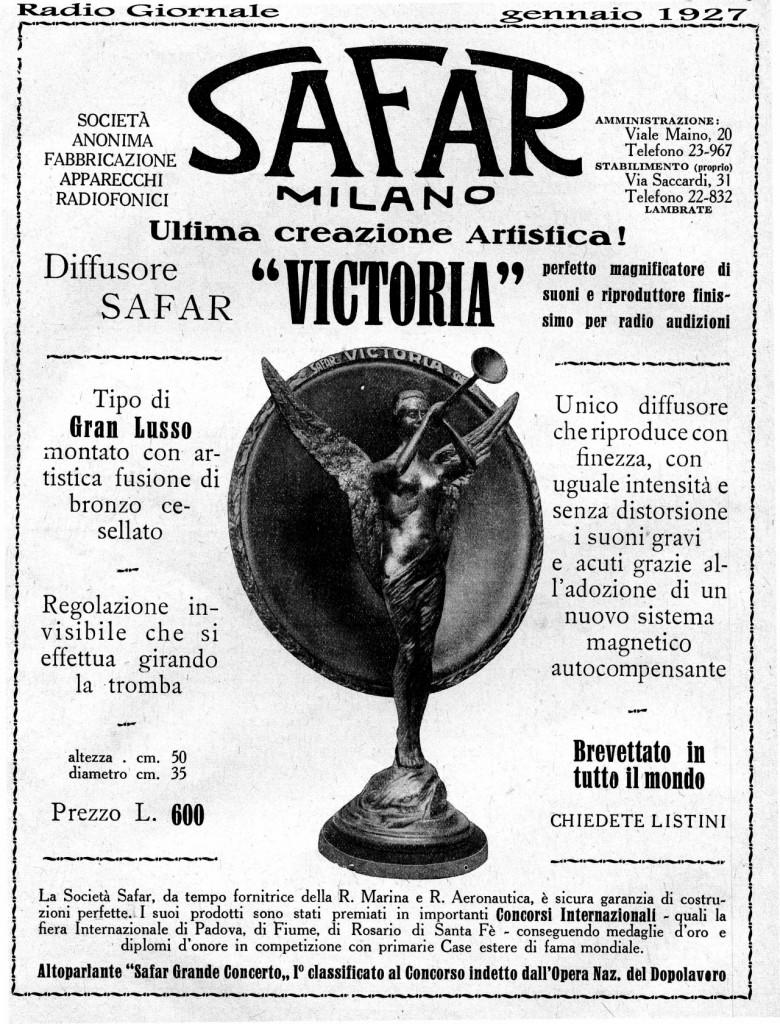 76 Safar Victoria Radio Giornale 01 1927