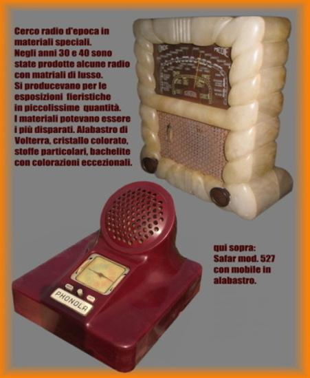 COMPRO RADIO VETRO CRISTALLO alabastro