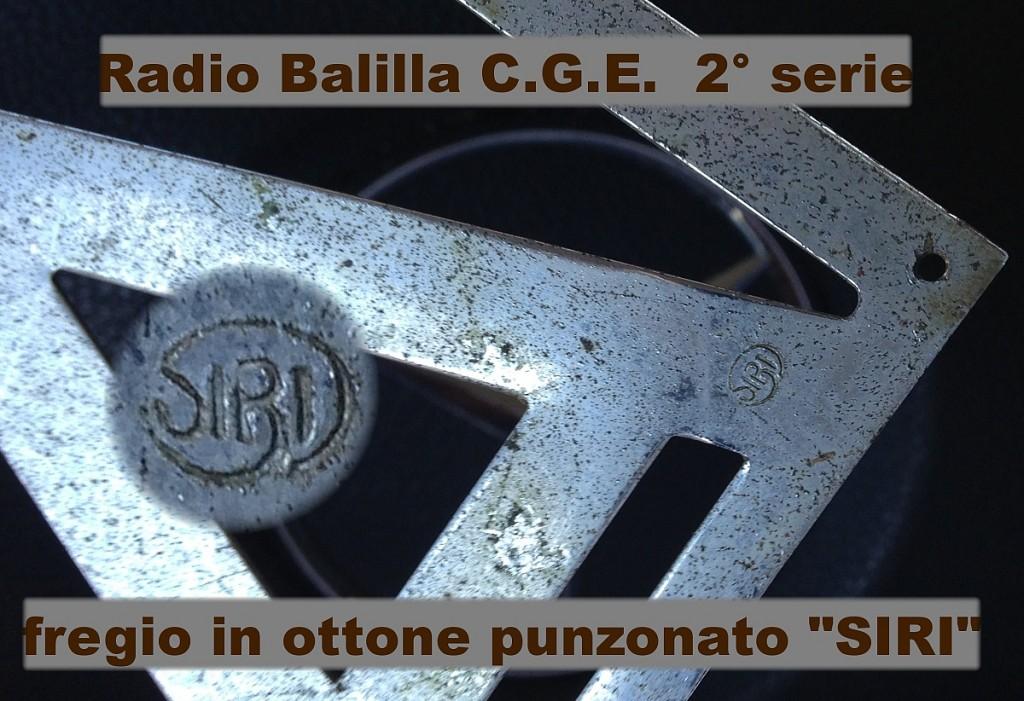 RADIO BALILLA CGE seconda serie 55