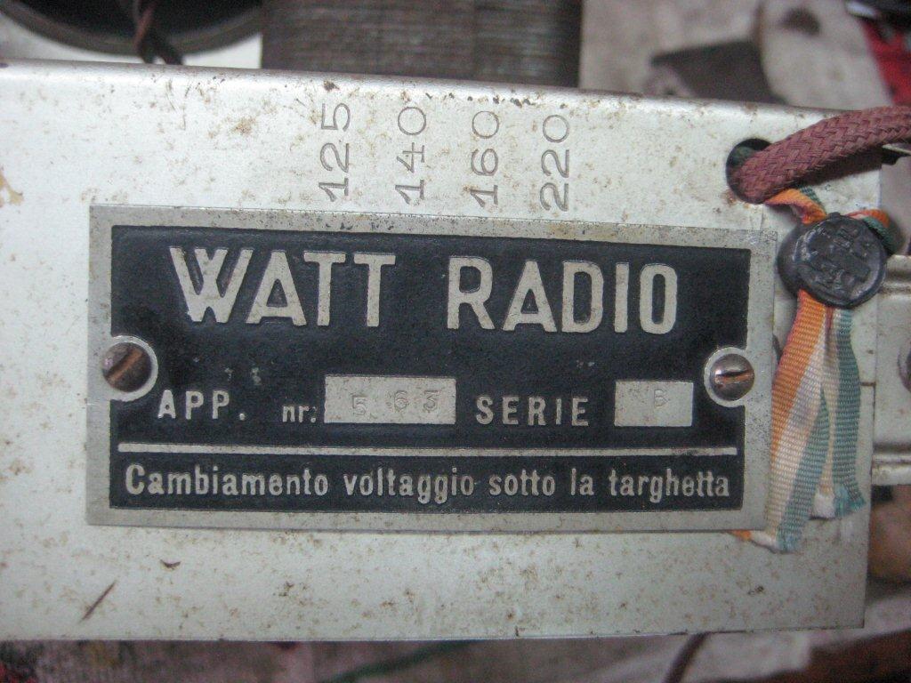 RADIO BALILLA WATT 27