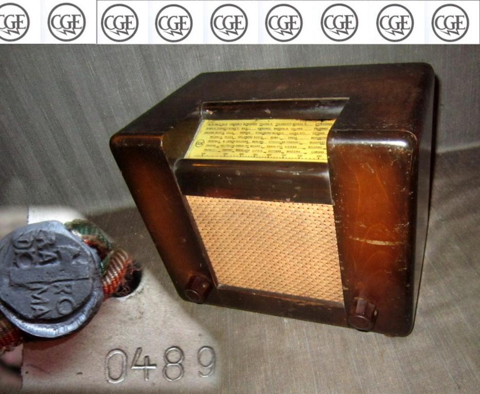 RADIO ROMA CGE 1° tipo telaio 0489