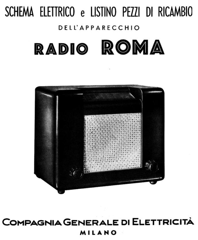 RADIO ROMA CGE 42