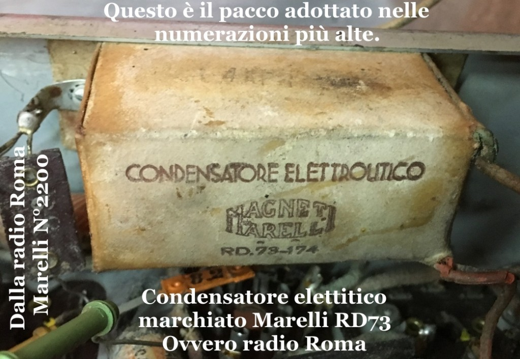 RADIO ROMA MARELLI 2200 30