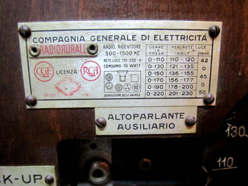 RADIO RURALE radiorurale cge 18