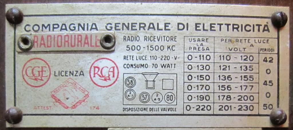 RADIO RURALE radiorurale cge 19