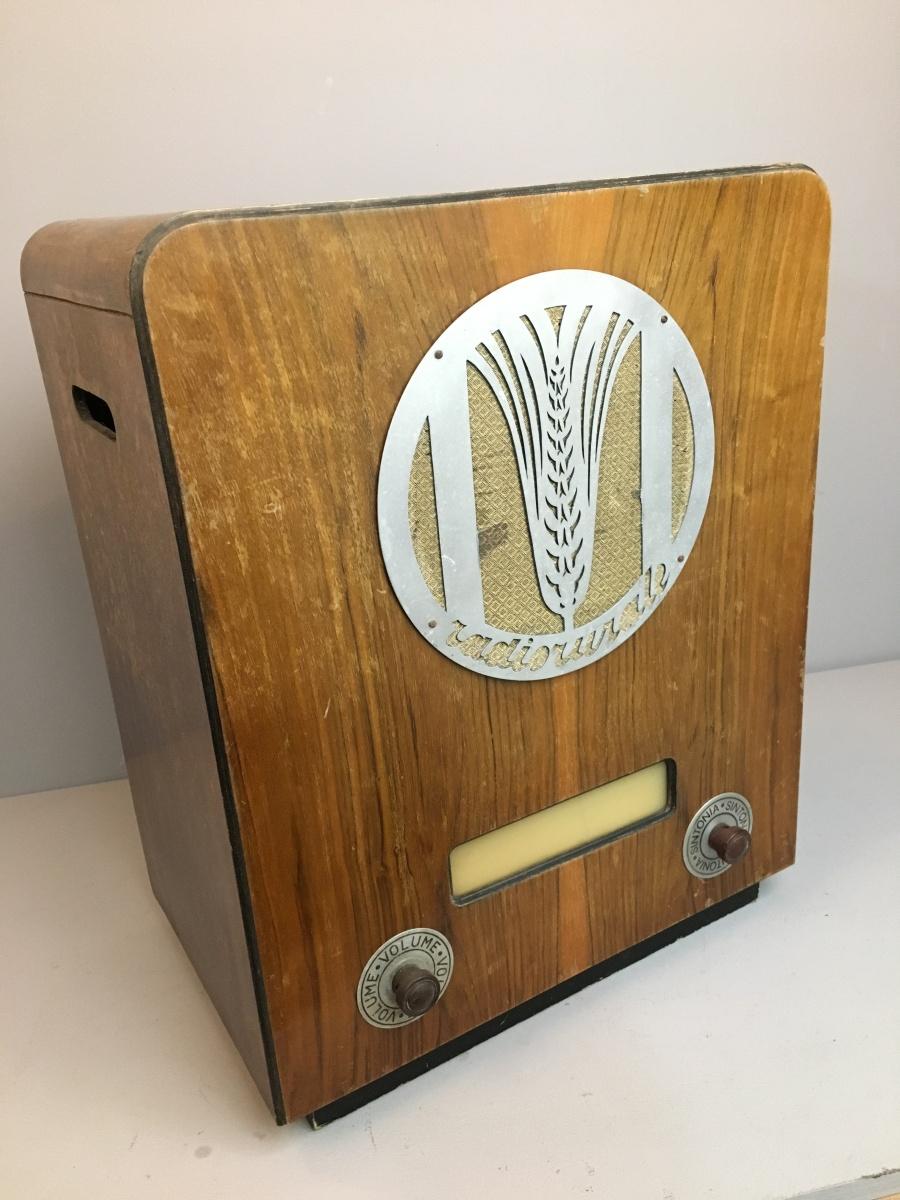 PHONOLA Radiorurale 1° SERIE fregio unico Telaio 3360 (VARIANTE) del Parroco insegnante DON LUIGI SPANGARO A RUNCHIA COMUNE DI COMEGLIAN