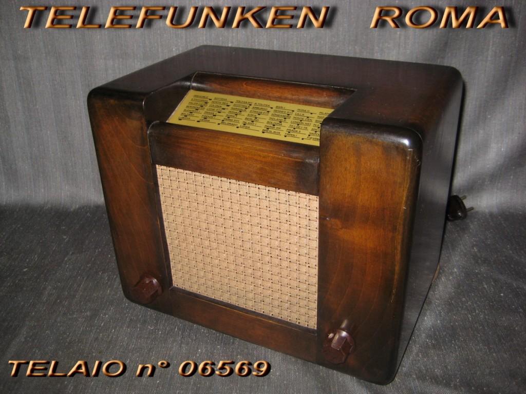 RADIO ROMA TELEFUNKEN TELAIO 06569