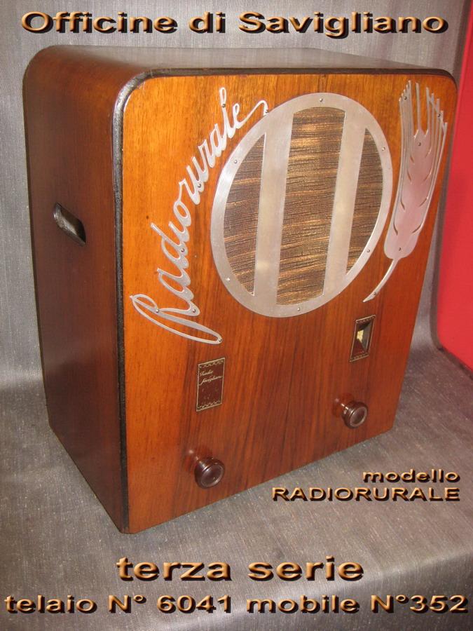 SAVIGLIANO Radio rurale 3° serie telaio 6041 mobile 352