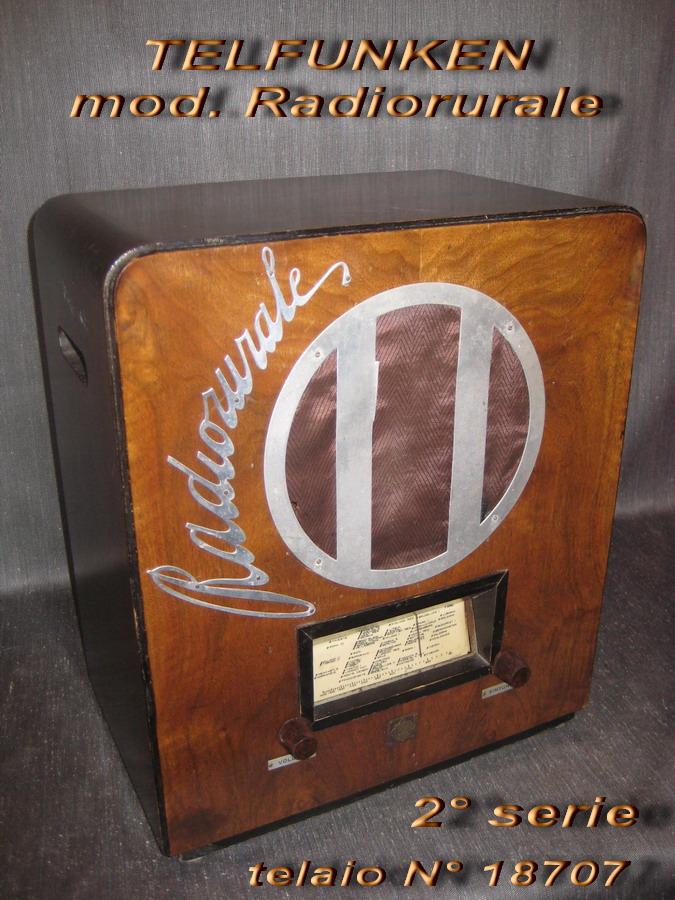 TELEFUNKEN Radio rurale 2° serie telaio 18707
