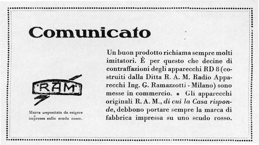 Ramazzotti radio rd8 diffida falso 4