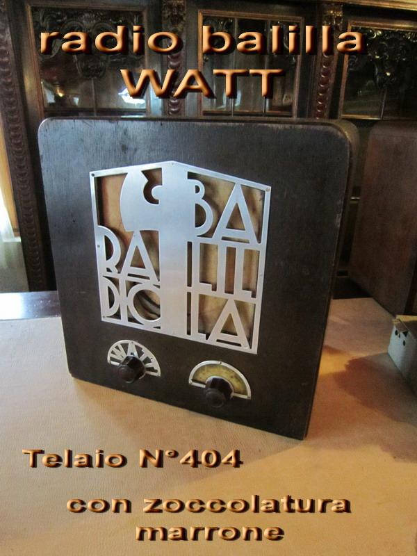 Watt Radio telaio N° 404 prima serie