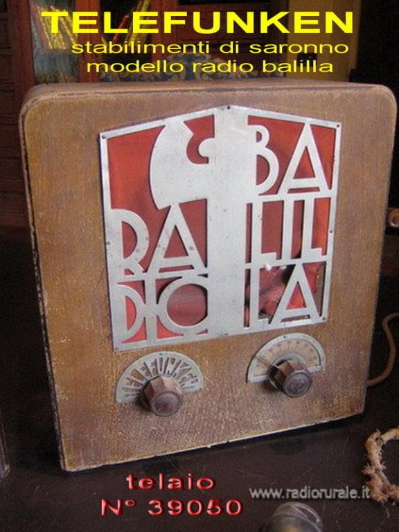 radio balilla telefunken 2