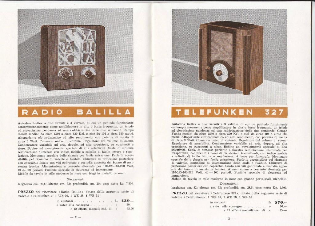 radio balilla telefunken 55