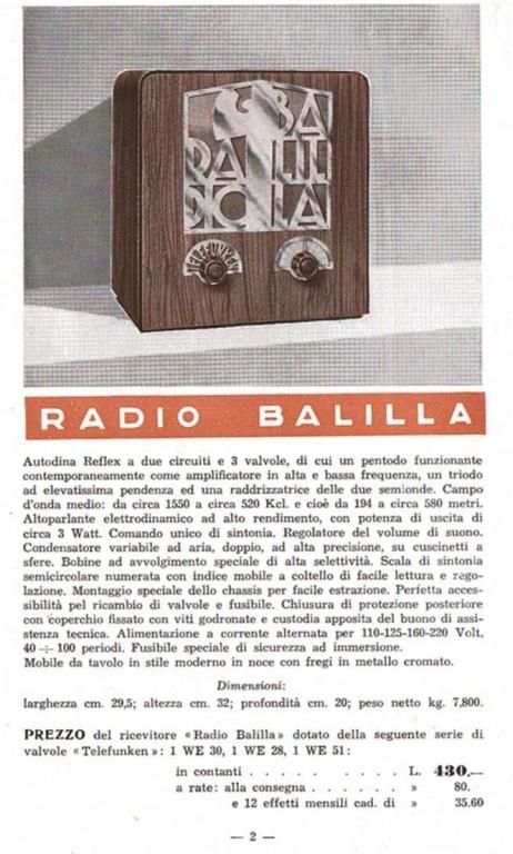 radio balilla telefunken 56