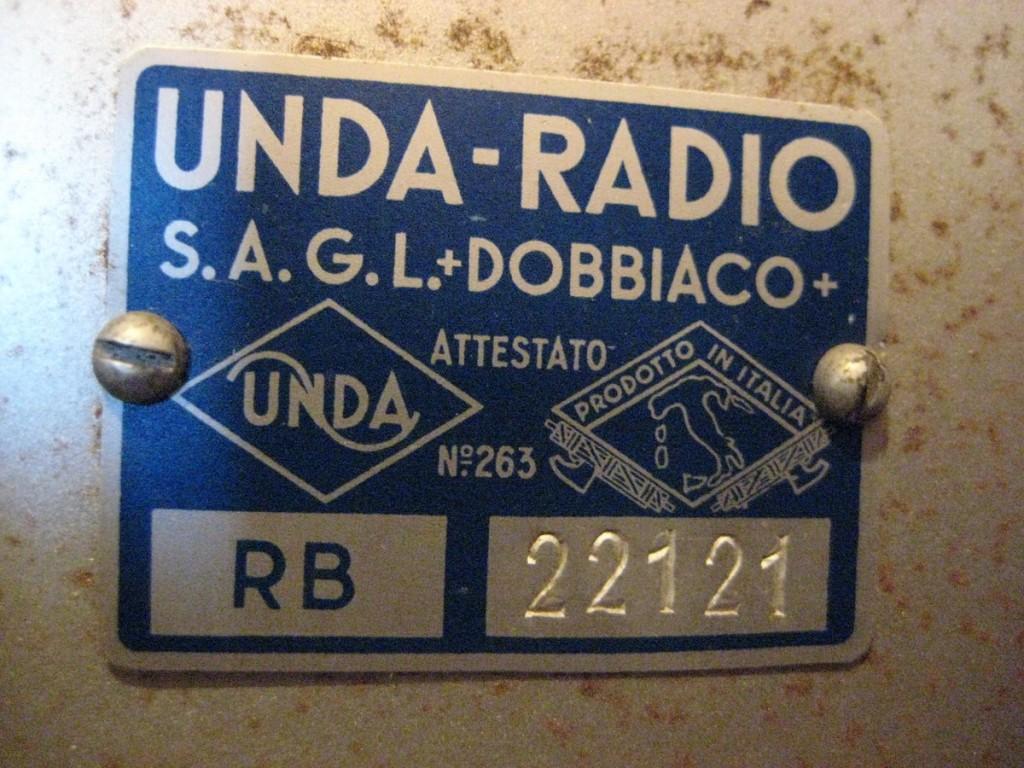 radio balilla unda 039