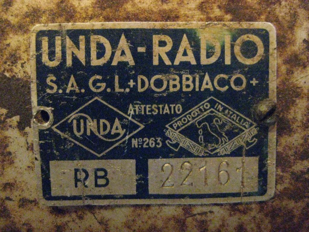 radio balilla unda 057