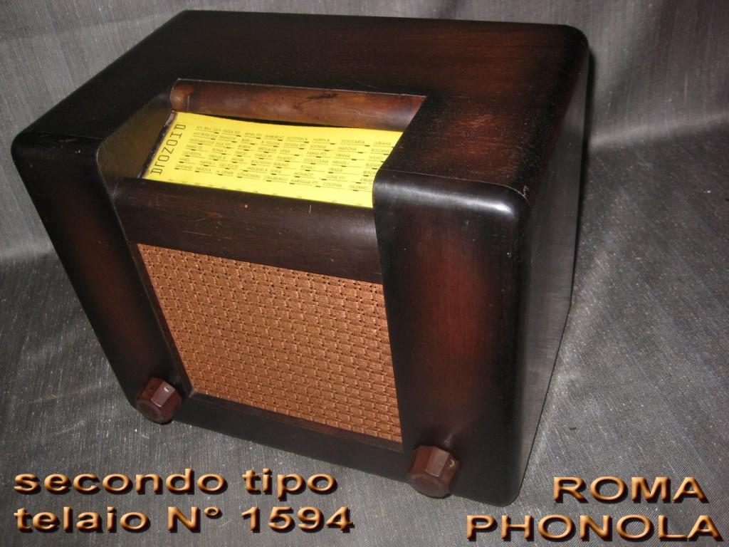 RADIO ROMA PHONOLA 2° serie mod 301 TELAIO 1594 valvole europee