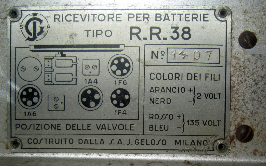 radio rurale geloso batterie 160