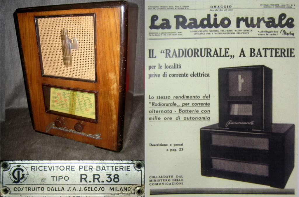 radio rurale geloso batterie 165