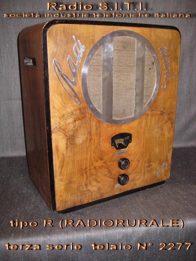S.i.t.i. Radiorurale 3° SERIE telaio 2277 SITI società industrie telefoniche italiana