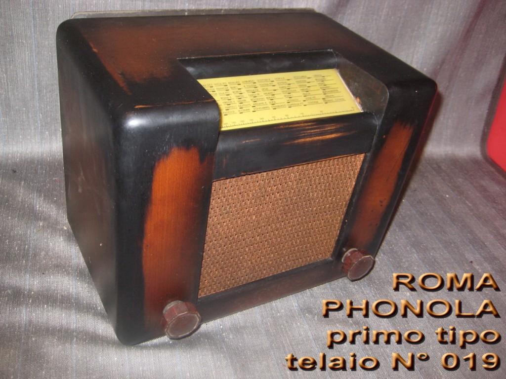 RADIO ROMA PHONOLA 1° serie mod 301 TELAIO 019 valvole europee