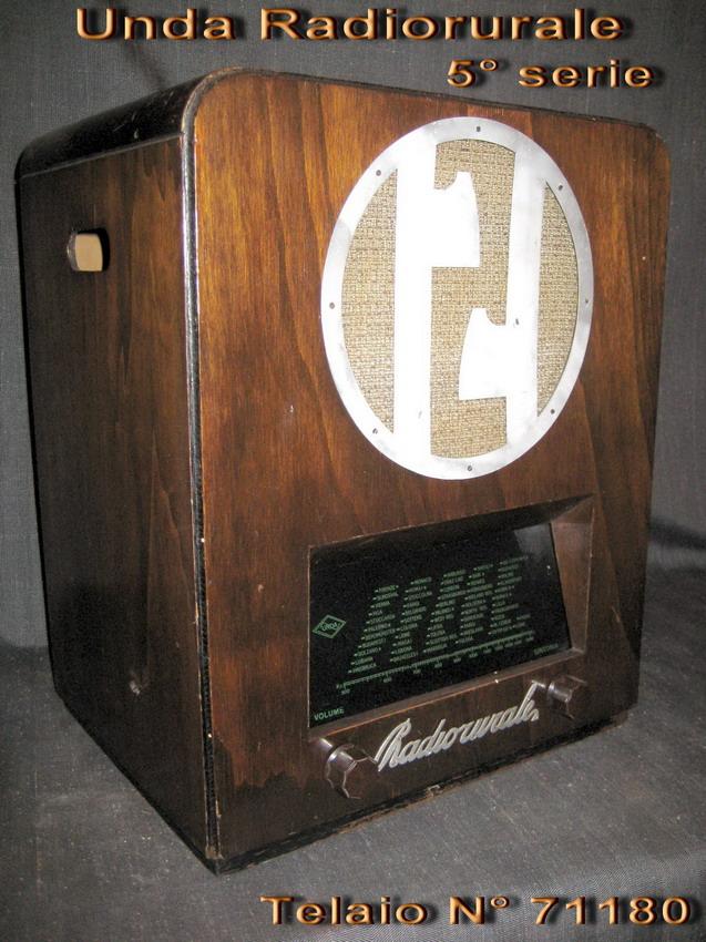 UNDA Radio rurale 5° SERIE telaio 71180