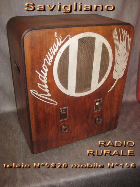SAVIGLIANO Radio rurale 2° serie telaio R 5820 mobile N° 156