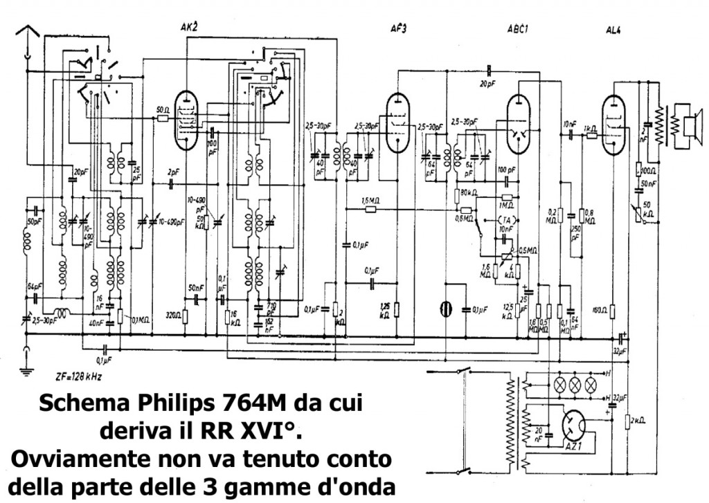 schema philips radio rurale anno xvi