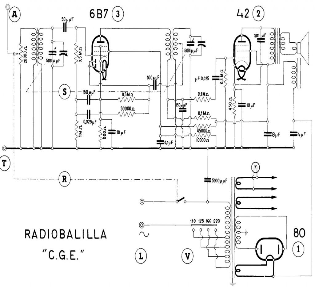 schema radio balilla seconda serie
