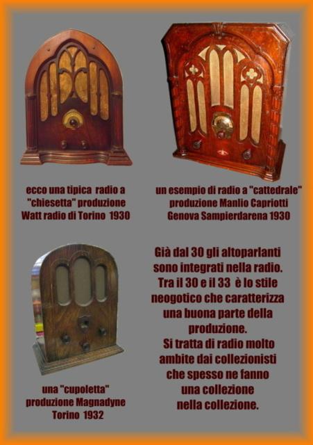 13 acquisto radio cupoletta cattedredale e chiesetta italiana