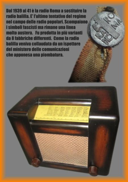 23 cerco tutti i tipi di radio roma produzione 1938 39