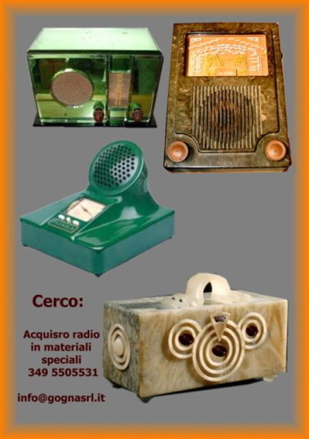 26 compro radio in materiali speciali