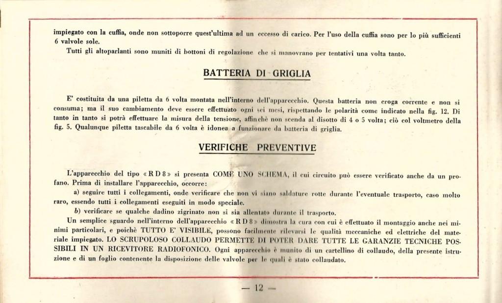 libretto istruzioni ramazzotti rd8 12