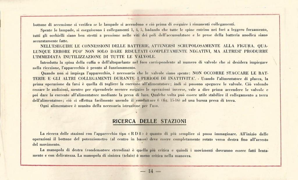 libretto istruzioni ramazzotti rd8 14