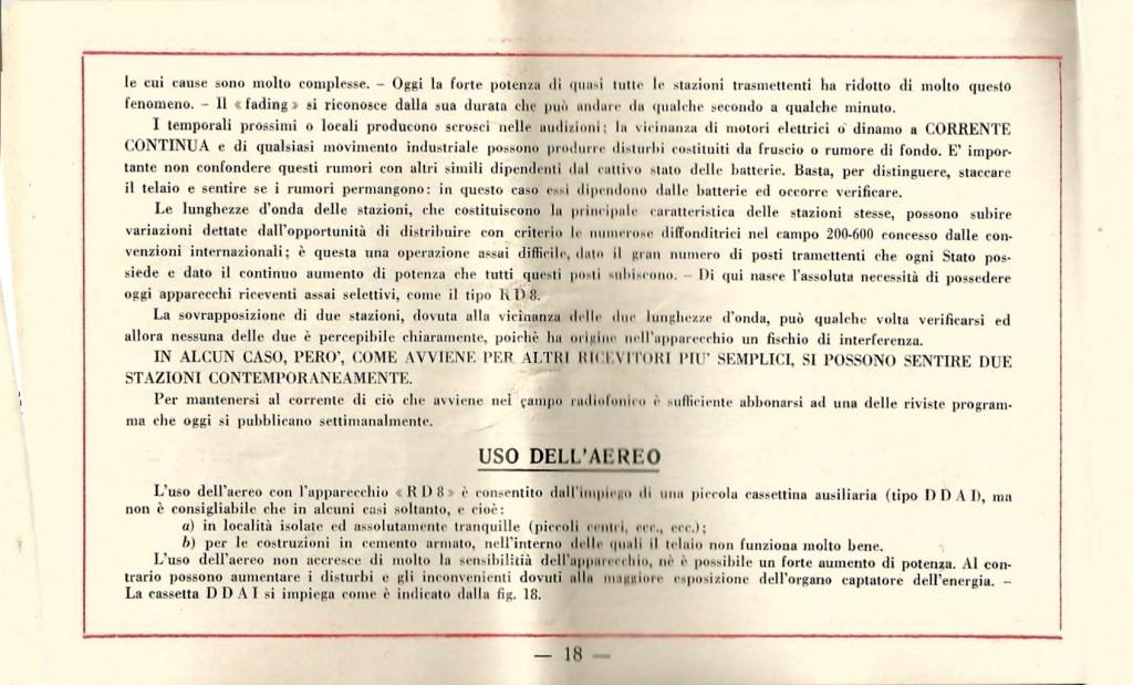 libretto istruzioni ramazzotti rd8 18