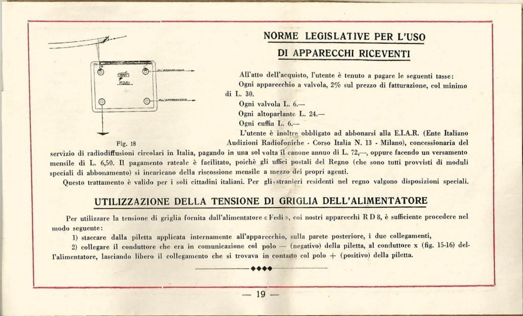 libretto istruzioni ramazzotti rd8 19