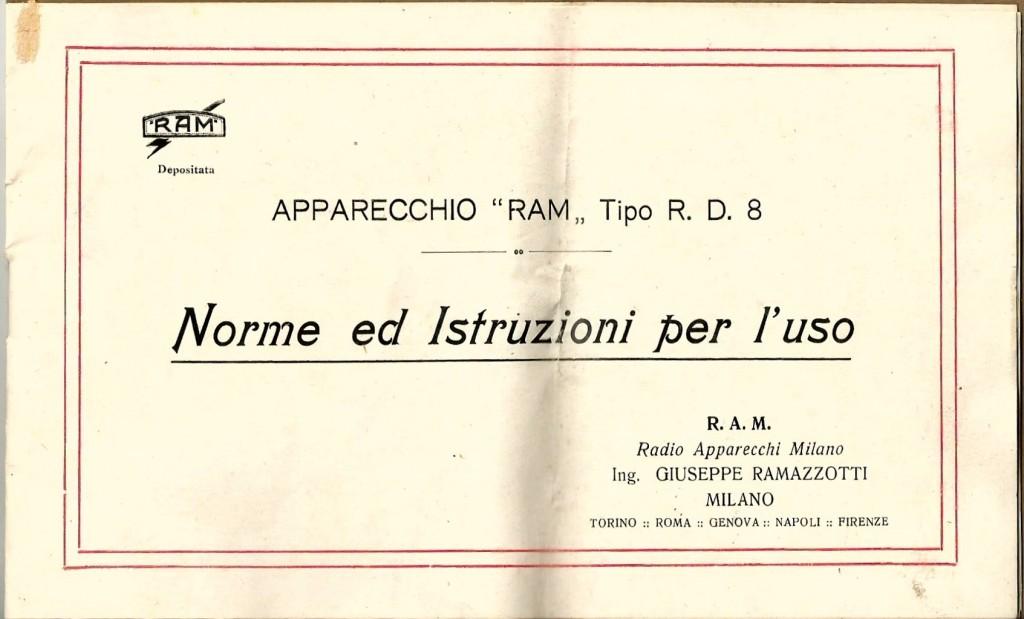 libretto istruzioni ramazzotti rd8 2