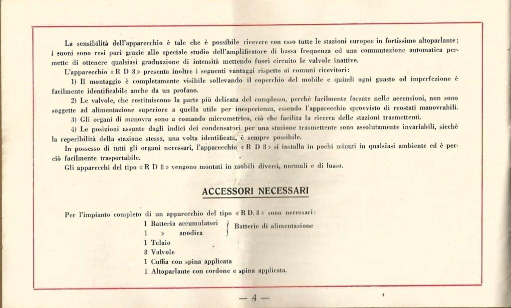libretto istruzioni ramazzotti rd8 4