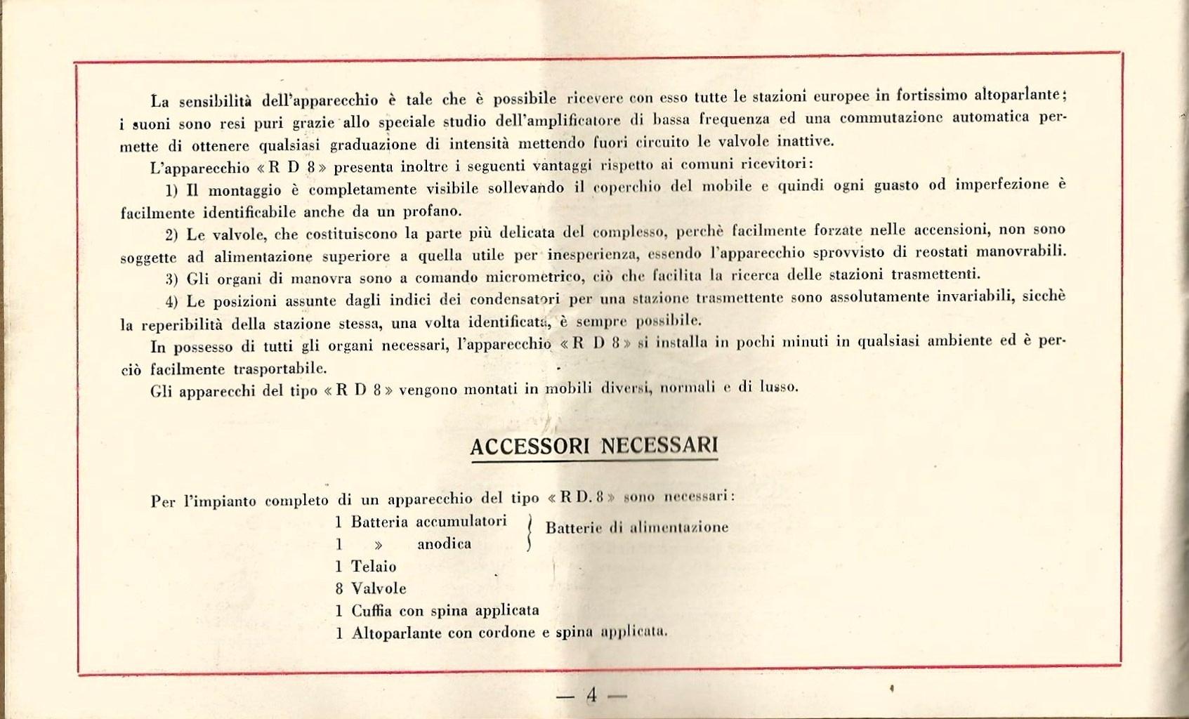 libretto istruzioni originale ramazzotti rd8 ram