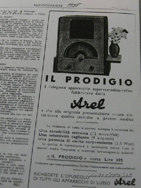 radio Arel prodigio 10