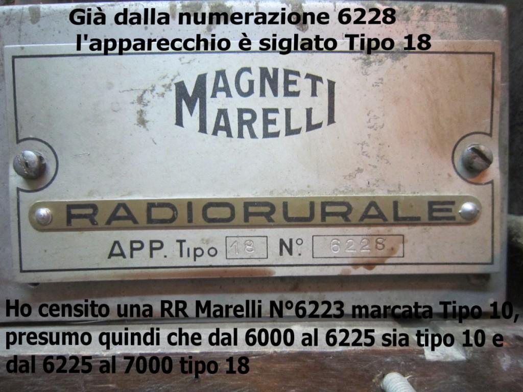 radio rurale marelli tipo 18 6