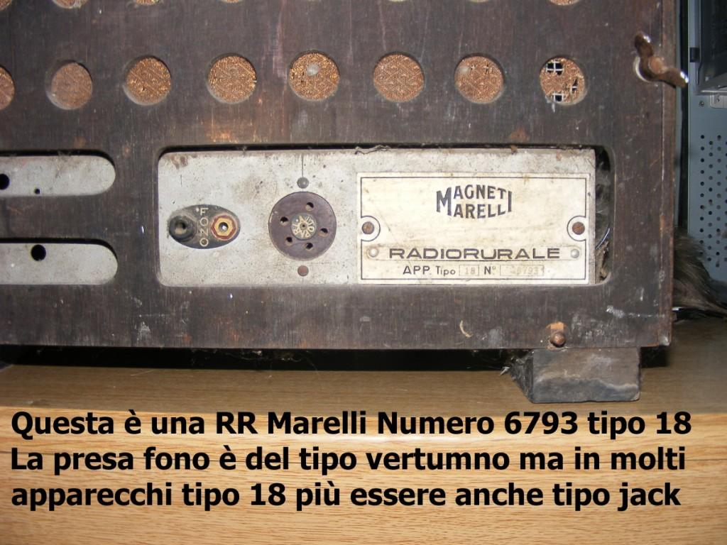radio rurale marelli tipo 18 8