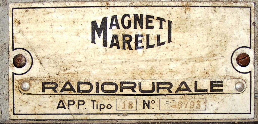 radio rurale marelli tipo 18 9