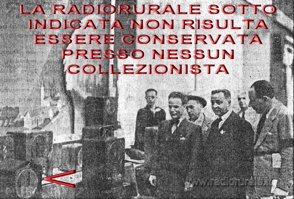 SAFAR Radiorurale 2° serie INEDITA! 521RR    MAI VISTA UNA, ESISTE SOLO LO SCHEMA (PER ORA)