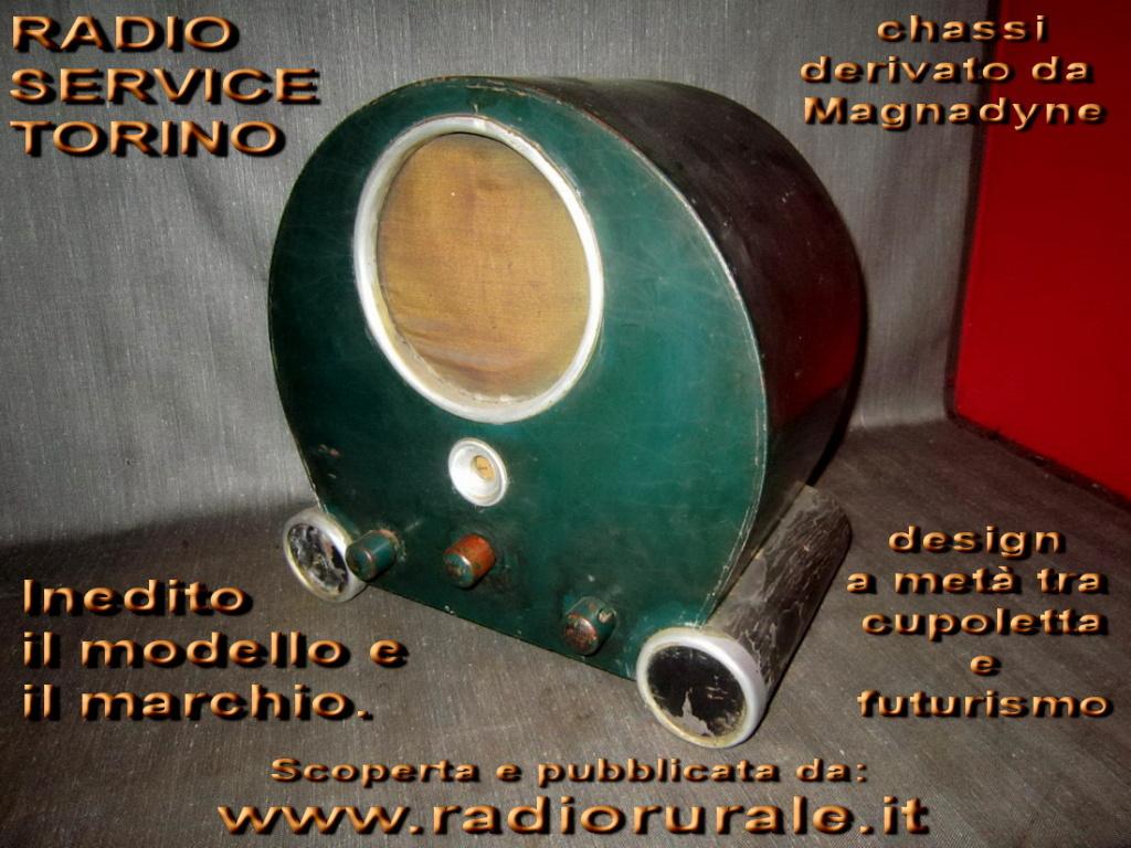 Radio Service Torino Cupoletta futurista inedita!