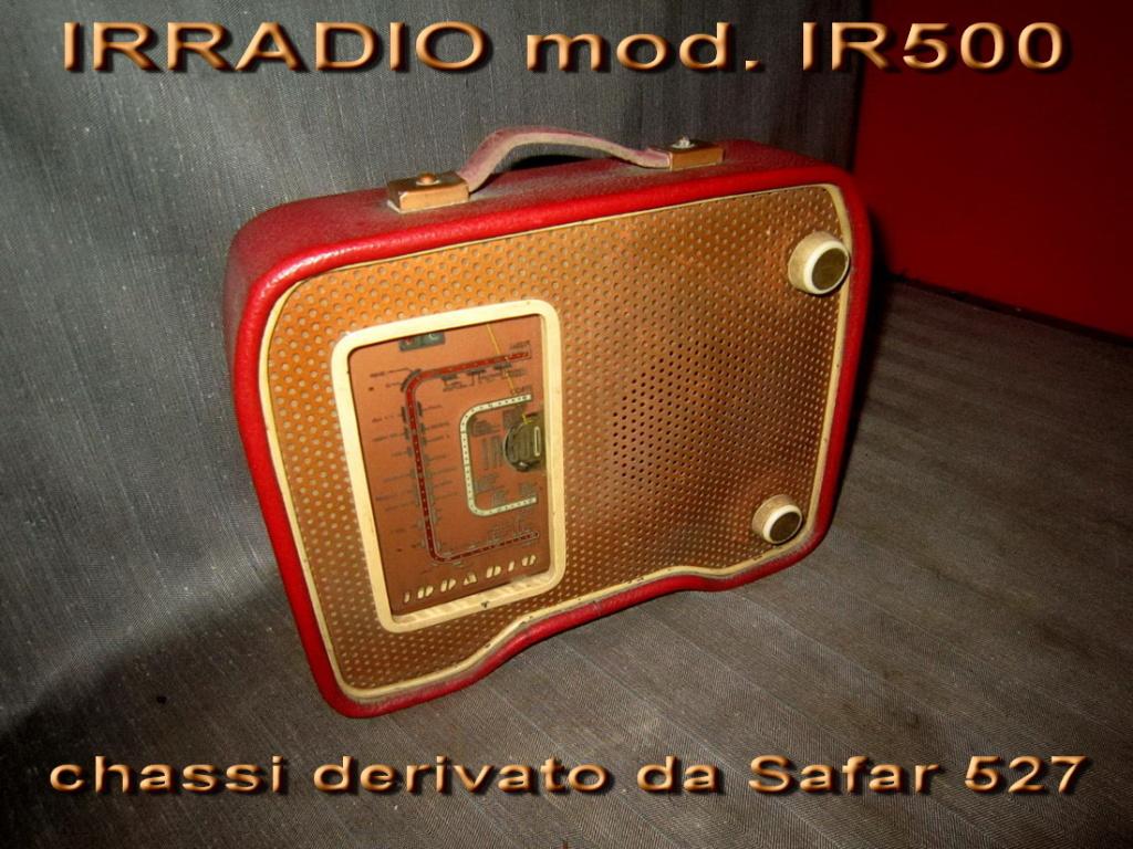 Radio Irradio IR500 in pelle rossa