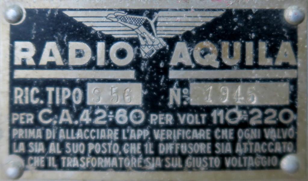 radio Aquila S 56 telaio 1945 24